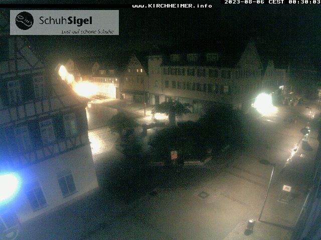 Marktplatz in Kirchheim via Webcam vom Schuhhaus Sigel